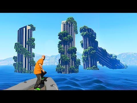 EXPLORING WATER WORLD DISASTER MOD (GTA 5 Mods)