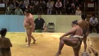 2014年6月 奈良県葛城市當麻の市相撲館「けはや座」で、大関・稀勢...