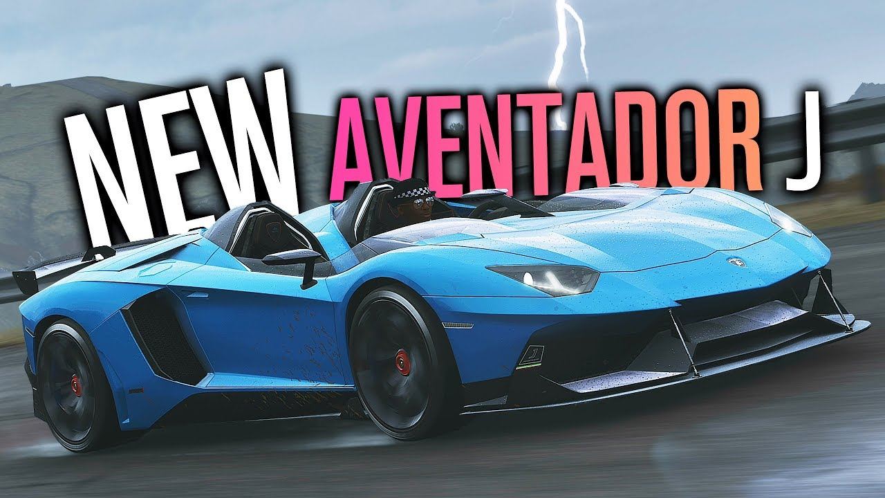 New Lamborghini Aventador J Customization Forza Horizon 4 Youtube