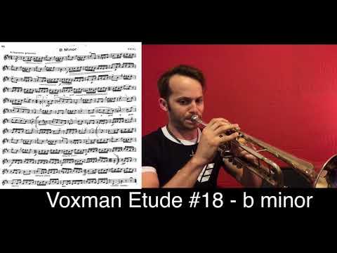 TMEA 2018-2019: Voxman Trumpet Etude #18 - b minor (full etude)