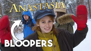 Anastasia BLOOPERS - Journey to the Past (with pomsky puppy)