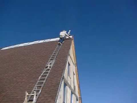 Lovely Cyning Climbing The Ladder To Roof The Heall   YouTube