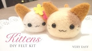 Make Adorable Kittens Using a DIY Needle Felt Kit