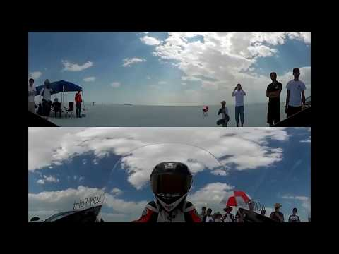 Bonneville Motorcycle Speed Trials 2018 --- 184MPH High speed wobbled crash (Onboard camera)