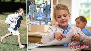 Sweden's Princess Estelle First Day of School #royalnews #princessestelle