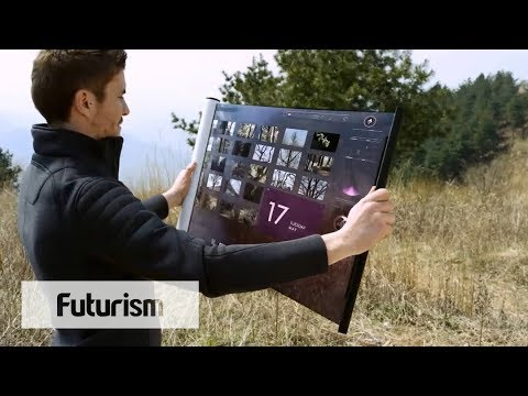 Flexible TV Display Can Be Rolled Up