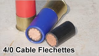 4/0 Copper Cable Flechette Rounds - Tested