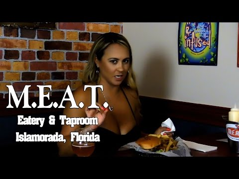 MEAT Eatery & Taproom Islamorada Florida Keys Gourmet Hamburgers with Mariah Milano