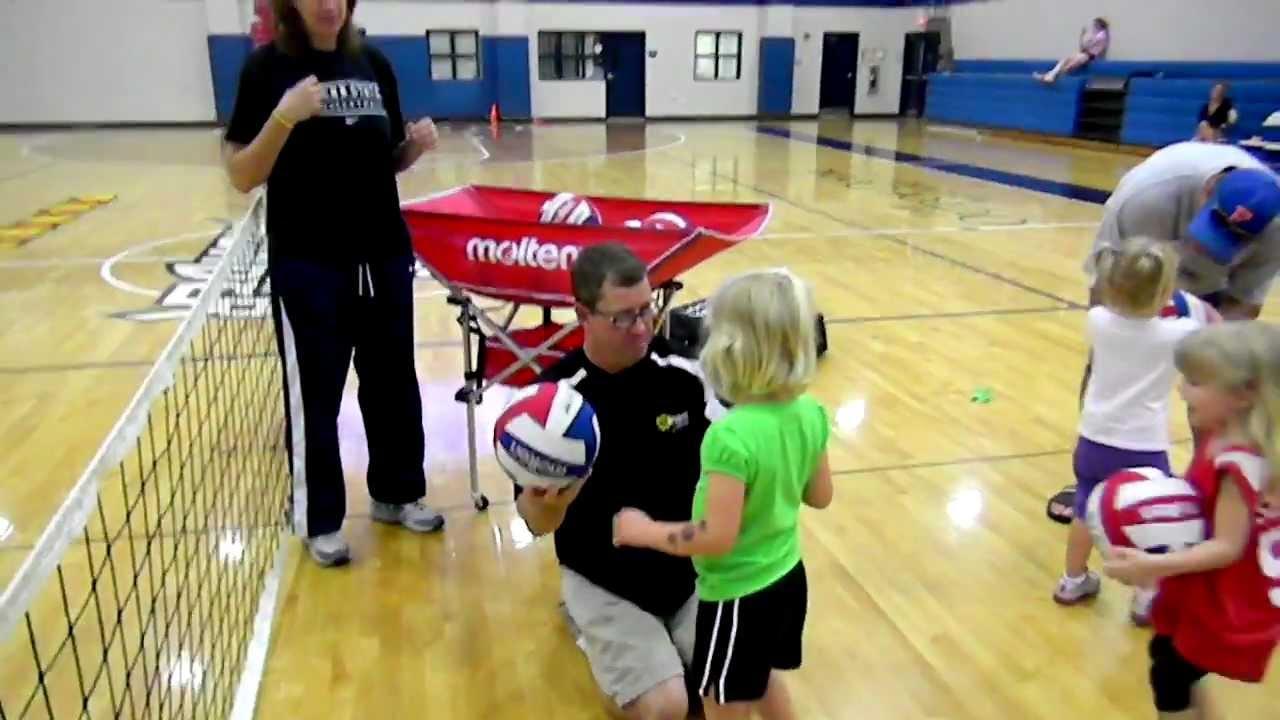 VolleyTotz and VolleyKidz volleyball program for kids - YouTube