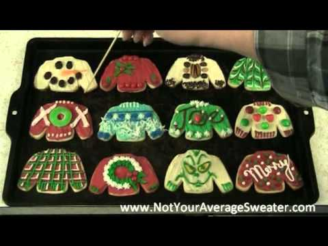 ugly christmas sweater party activity decorating sweater cookies youtube