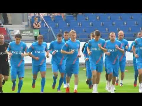 Holland training at Wisla Cracow stadium Euro 2012 part 1
