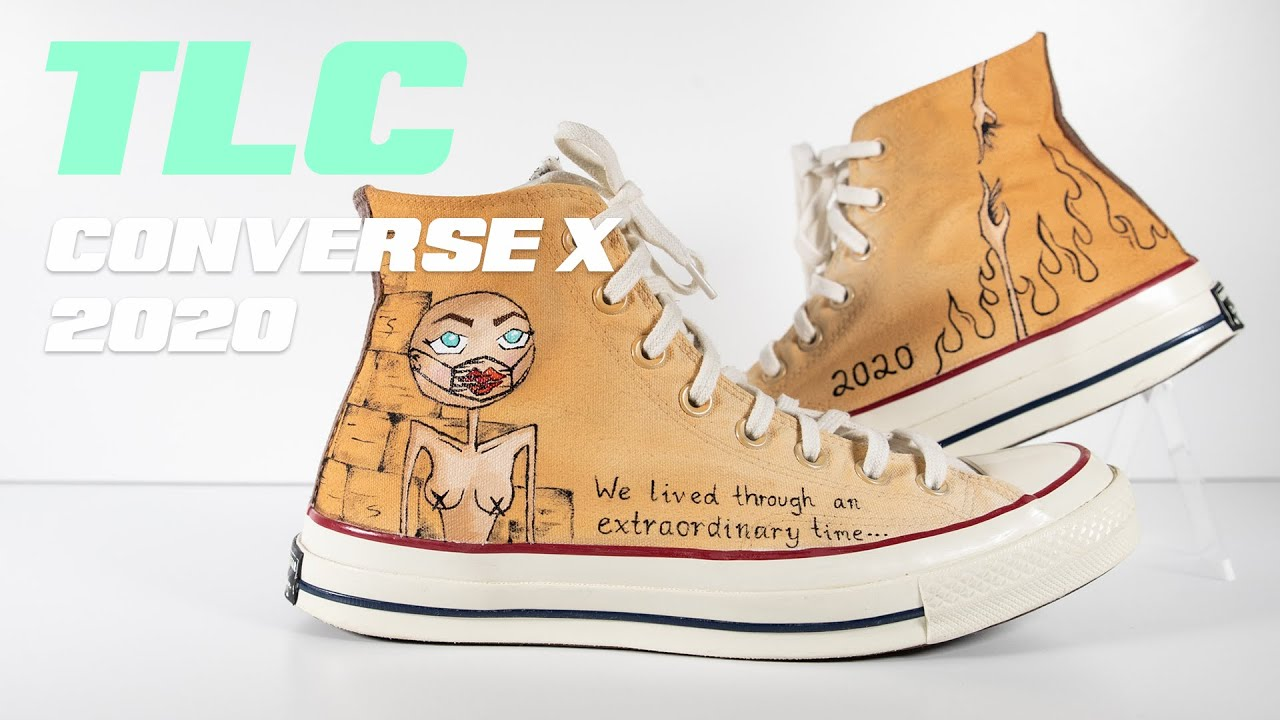 CUSTOM PAINTED CONVERSE // A TRIBUTE TO 2020