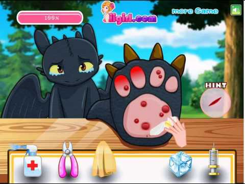 Pets games -  How To Train Your Dragon Toothless Claws Doctor Toothless Claws Doctor