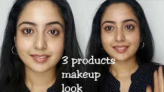 College makeup look using 3 products || simple look || Malayalam