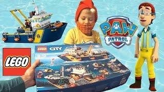 Щенячий Патруль на русском - Буксир Палтуса. Paw Patrol - Captain Turbot Diving Bell Bath Playset.