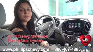 2019 Chevy Traverse Navigation System at Phillips Chevrolet