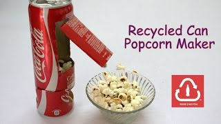 Video How to Make a Recycled Can Popcorn Machine download MP3, 3GP, MP4, WEBM, AVI, FLV November 2017