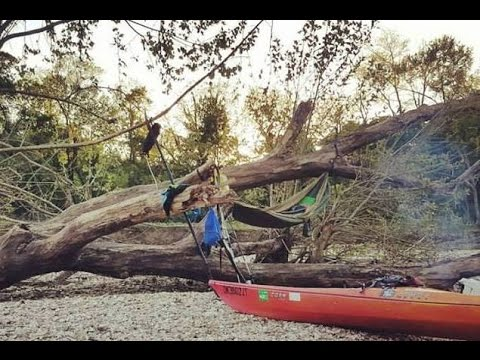 Kayak camping on the Illinois river