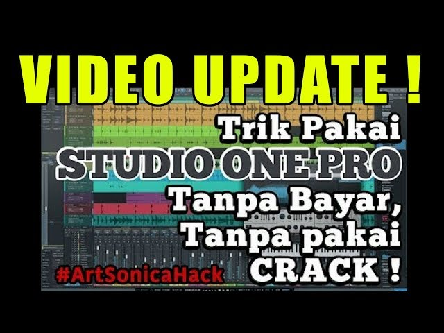 VIDEO UPDATE Tips Perpanjang Demo Studio One Pro #ArtSonicaHack ke-3