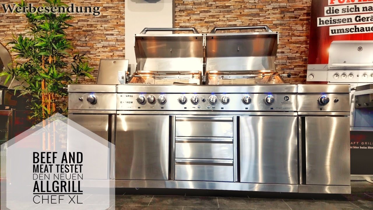 Billig Gasgrill Xl : Test allgrill chef xl von beef and meat youtube