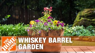 How To Create A Whiskey Barrel Garden - The Home Depot