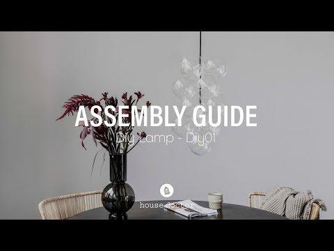 Wonderbaar How to assemble House Doctor DIY lamp - YouTube OT-41
