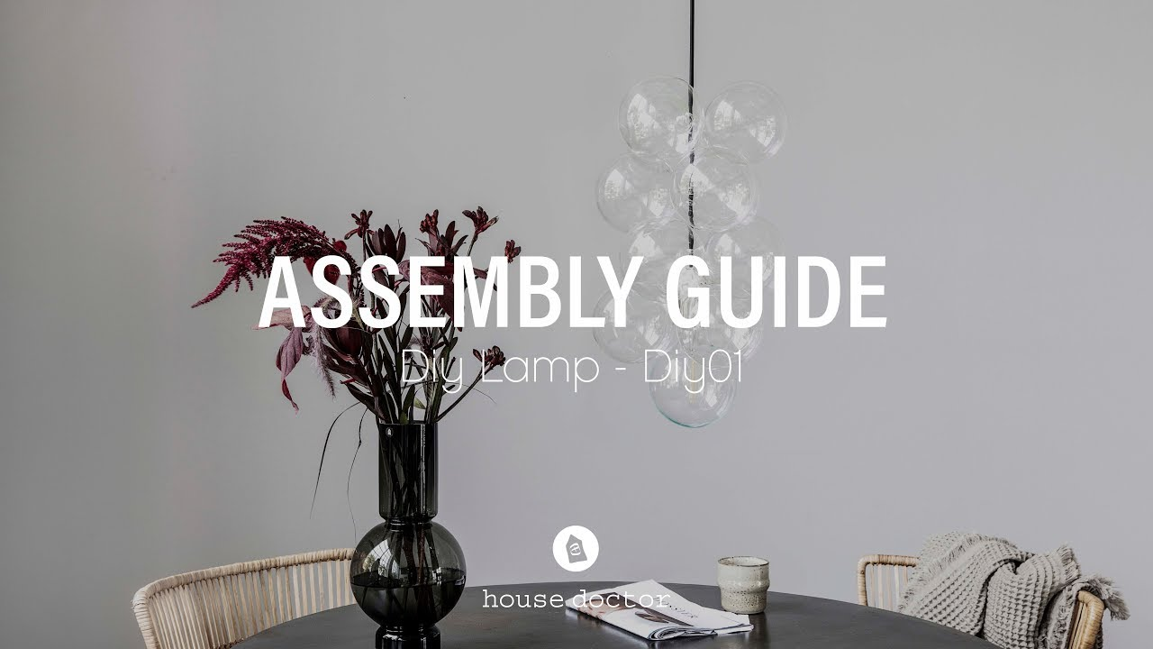 Nieuw How to assemble House Doctor DIY lamp - YouTube NP-44