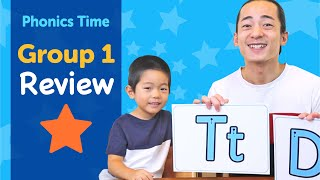 Group 1: Review | Phonics Time with Masa and Junya | Made by Red Cat Reading
