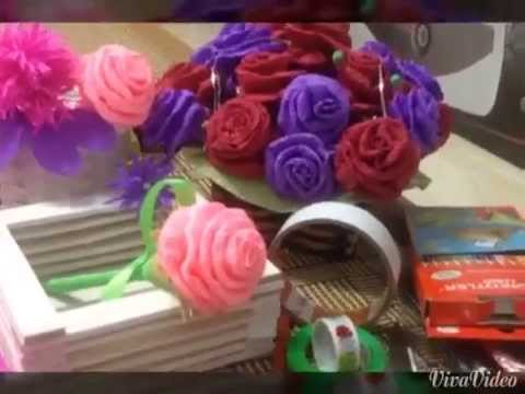 hướng dẫn gấp hoa bằng giấy nhăn đơn giản và đẹp