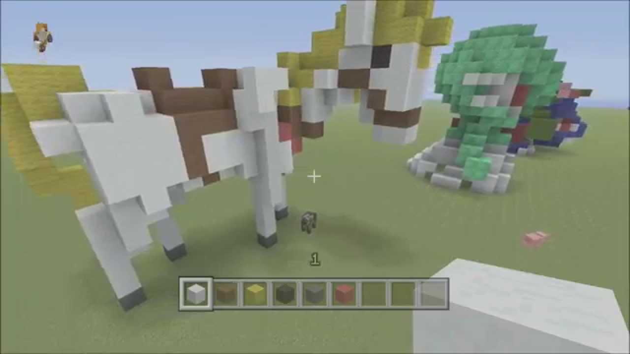 Minecraft 3d Pixel Art Tutorial Pegasus Horse