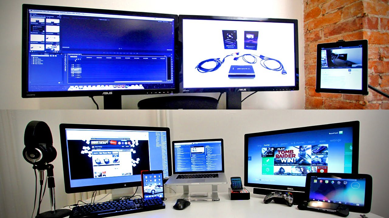 Ultimate Tech Office Tour / Gaming Setup / Desk Setup 2013   YouTube