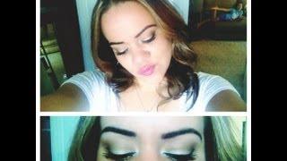 Easy, natural light brown and soft gold smokey eye Thumbnail