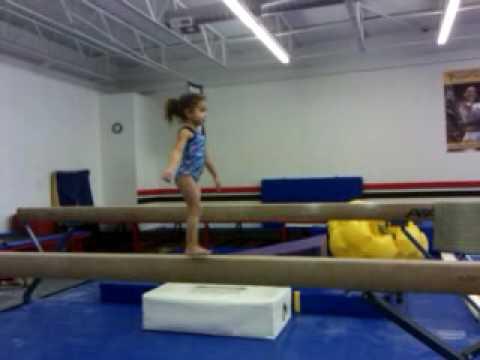 4 Year Old Gymnast Konnor Mcclain On The Balance Beam