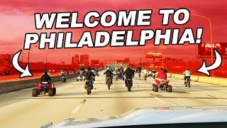 Bikers Illegally Take Over Highway