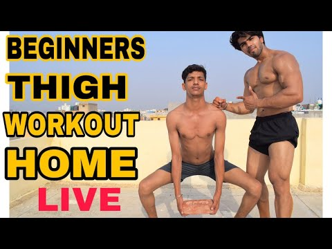 THIGH WORKOUT AT HOME FOR BEGINNERS| LIVE STREAM BADRI FITNESS
