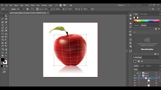 Adobe Illustrator Tutorial | Using the mesh tool Creating an apple vector
