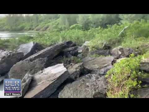 Spittal Pond After Hurricane Teddy, Sept 21, 2020