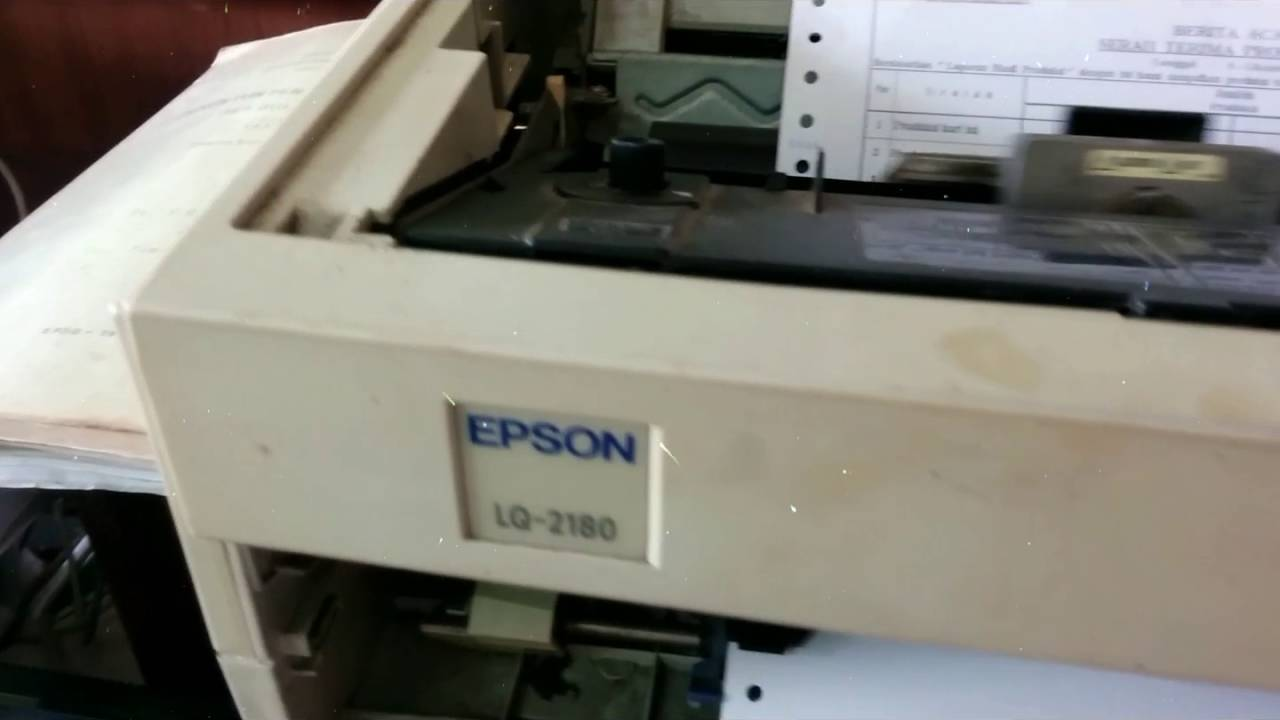 Reupload Fix 1 Epson Lq 2180 Youtube