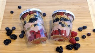 3 Berries Granola Yogurt Parfait 水果酸奶冻糕