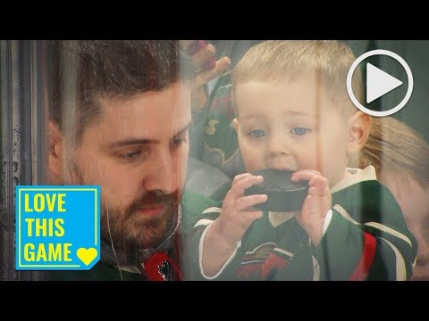Young Wild fan tries to make a snack out of Dubnyk-gifted souvenir