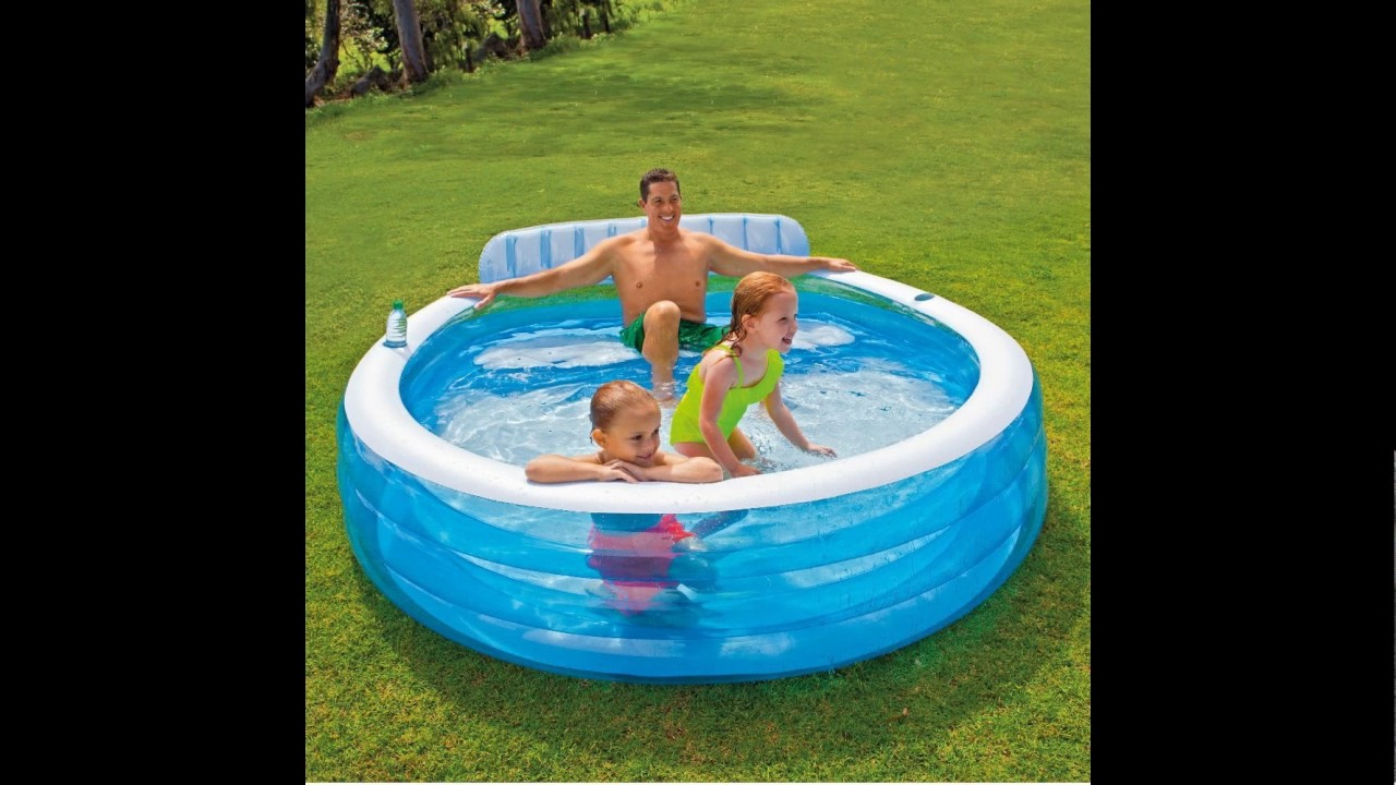 Intex Swim Center Inflatable Family Lounge Pool 88 X 85 X 30