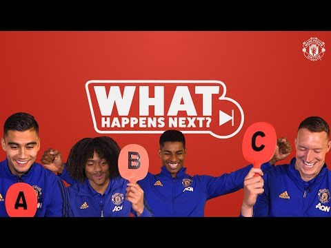 Rashford, Chong, Pereira & Jones Guess What Happens Next? | Manchester United