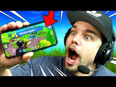 FORTNITE: Battle Royale sur TÉLÉPHONE !! (Iphone X Mobile Gameplay)