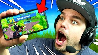 FORTNITE: Battle Royale sur TÉLÉPHONE !! (Iphone X Mobile Gameplay)