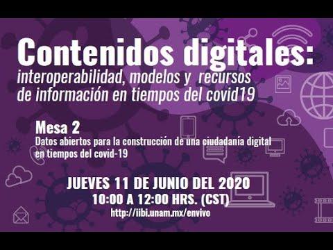 Mesa 2 de la Conferencia Contenidos digitales: interoperabilidad, modelos y recursos de información en tiempos del covid19 [468]