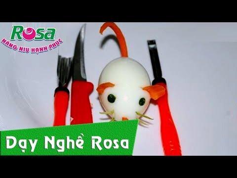 Tỉa rau củ quả hình con chuột - rosavn.net