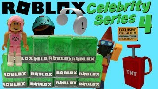 Roblox Toys Celebrity SERIES 4 Blind Boxes + Code Items [UNBOXING]