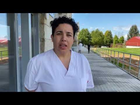 Ana Gómez, enfermera en la residencia de Os Milagros