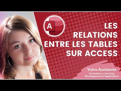 À quoi servent les relations entre les tables Access et comment les créer ?