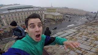 ПОБЕГ от охраны на крыше Питера Руфер Гордей BMX GoPro